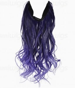 "20"" Ombre Purple Wave Heat Friendly Synthetic Flip & Clip In Hair Extension"