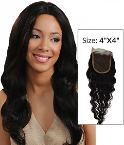 "4""x4"" Loose Wave Brazilian Remy Human Hair Lace Closure"