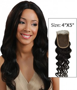 """4""""x5"""" Loose Wave Free Part/Middle Part/Three Part Remy Human Hair Top Closure"""