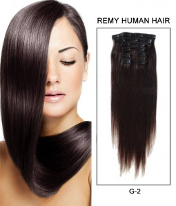 "22"" 8 Pieces Straight Clip In Virgin Remy Human Hair Extension E82202"