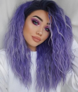 Kaye Lavender-Dawn Synthetic Lace Front Wig