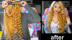 How to curl the human hair wig